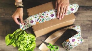 Taping up a produce box