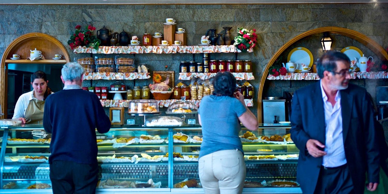Customers at a bakery