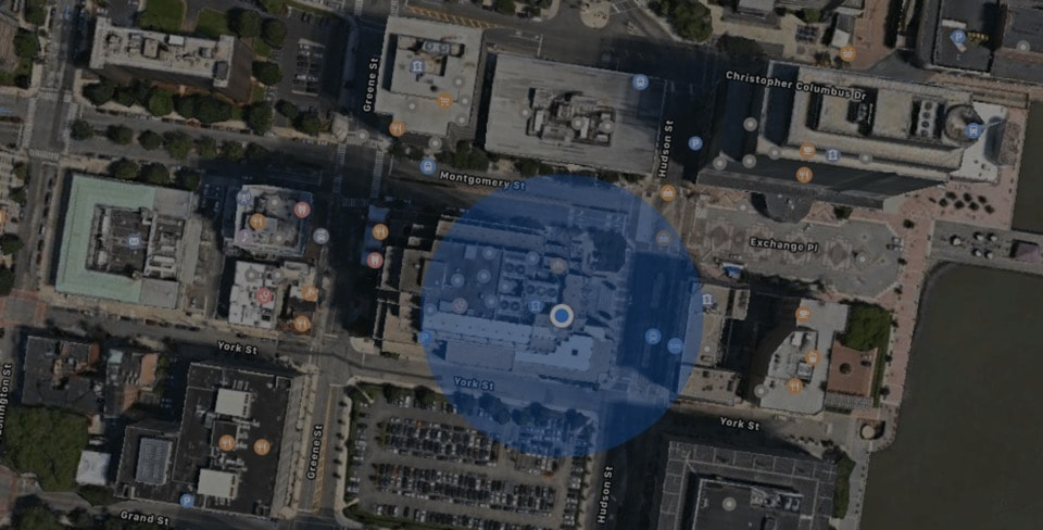 Earth view image on Apple Maps