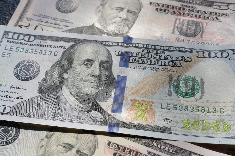 One-hundred dollar bill