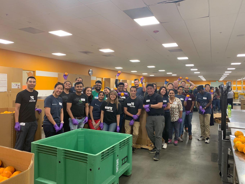 Clover employees volunteering