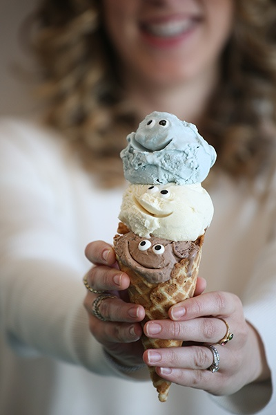 Three fun scoops — Tin Pot Creamery