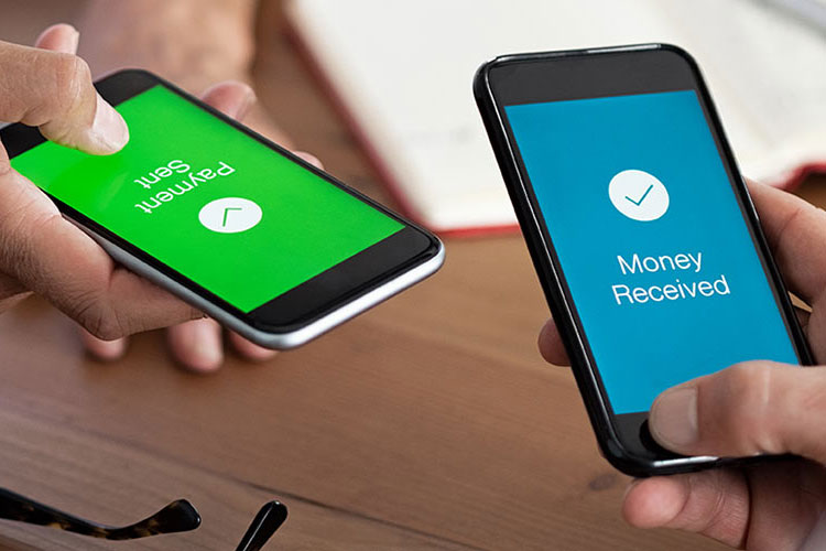 P2P transfer on two mobile phones