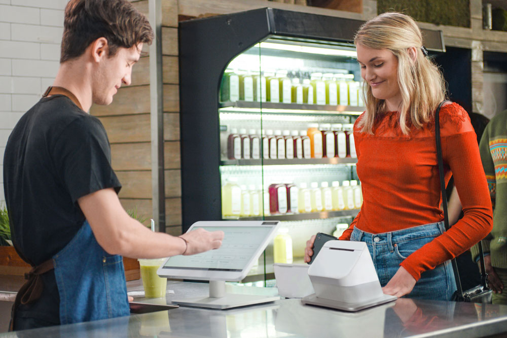 Entering information in POS system