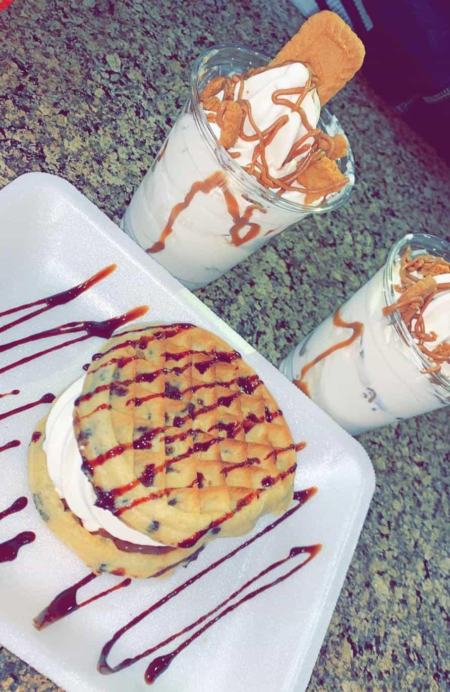 Ice cream sandwich and shakes