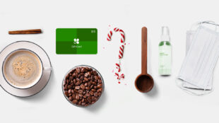 Holiday coffee shop items
