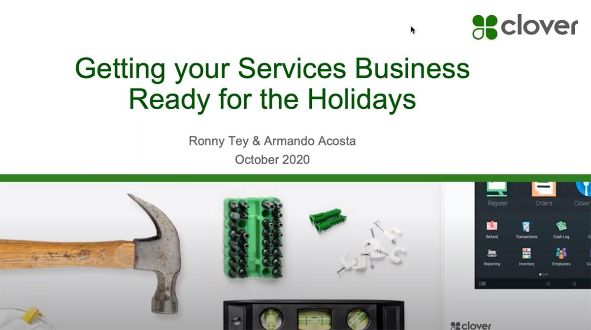 Holiday 2020 - Service businesses webinar thumbnail