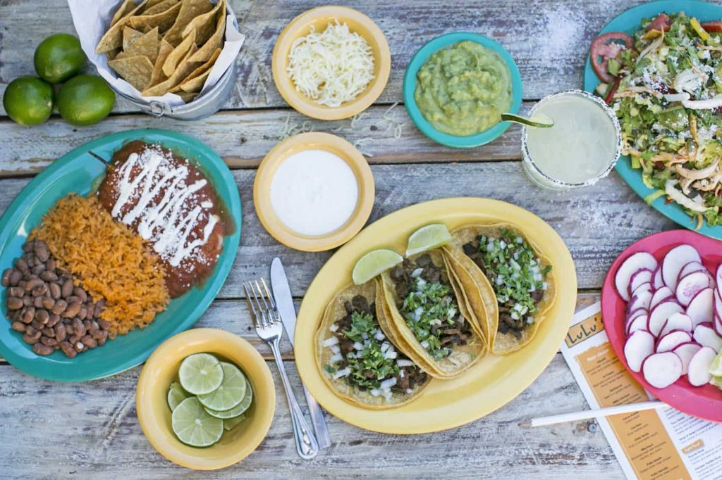Plates from LuLu's Mexican Food