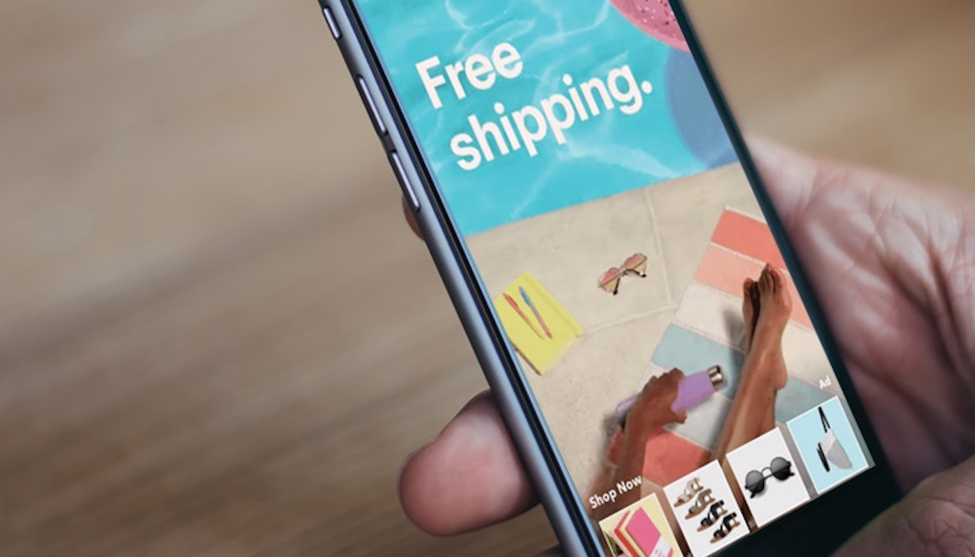 eCommerce site on mobile phone