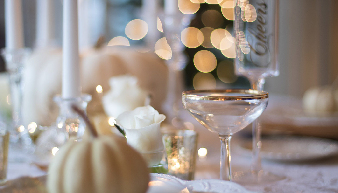 A holiday table set
