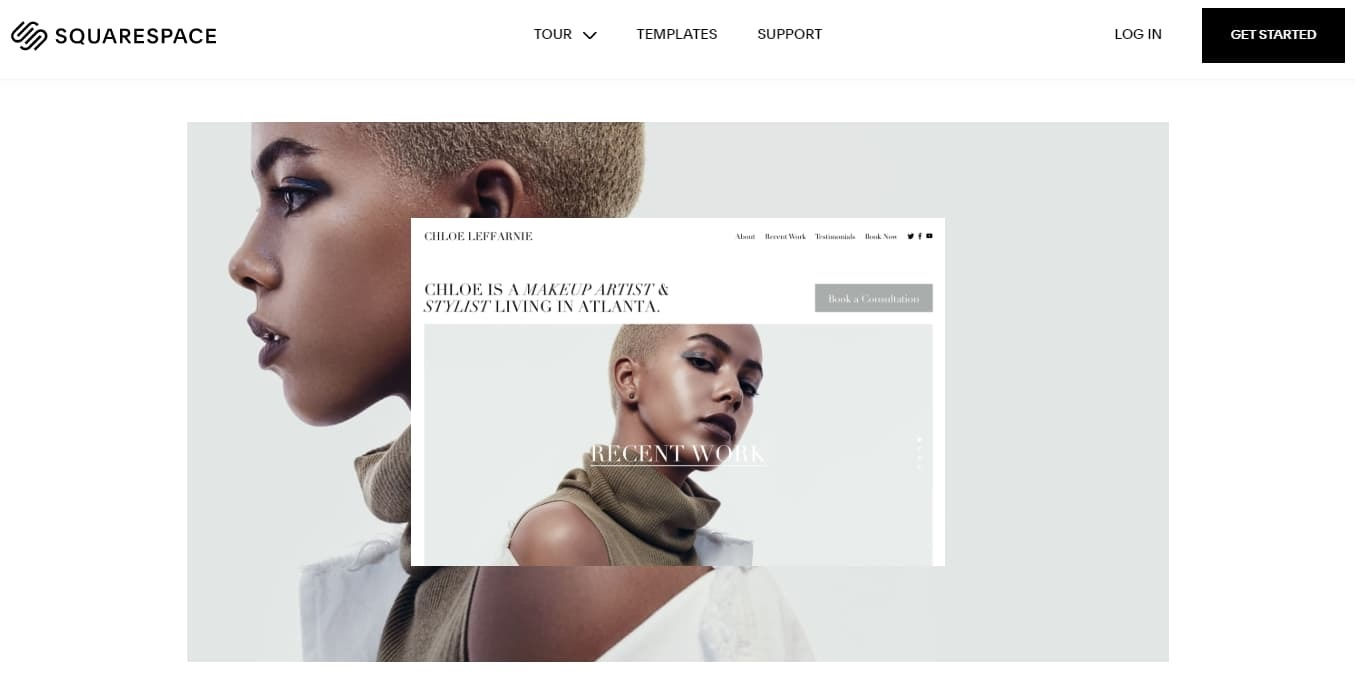 Squarespace homepage examples