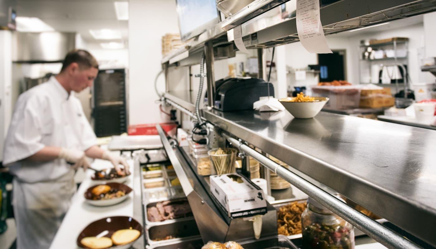 Cook in restaurant kitchen