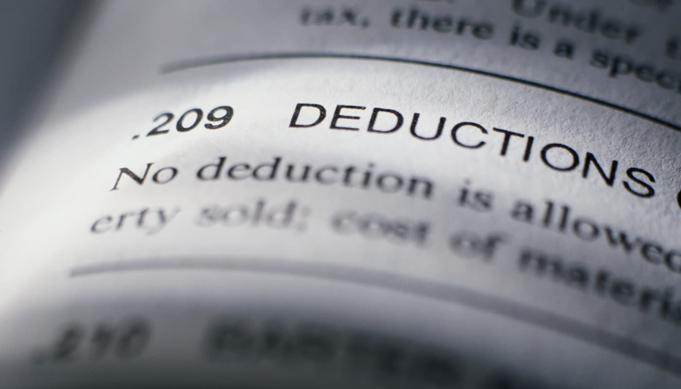 Tax deductions definition