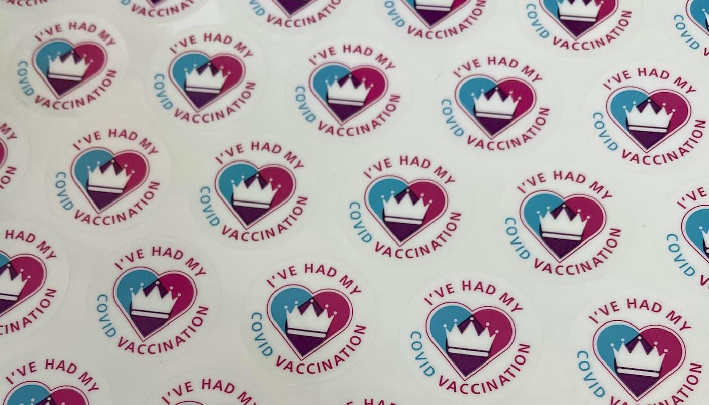 COVID vaccination stickers
