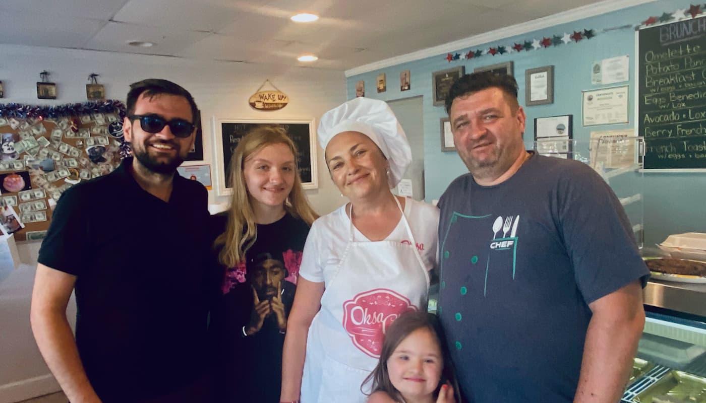 Petrov family of Oksa Cakes