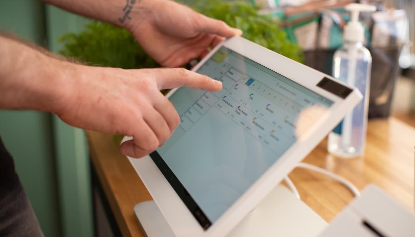 Touching POS system