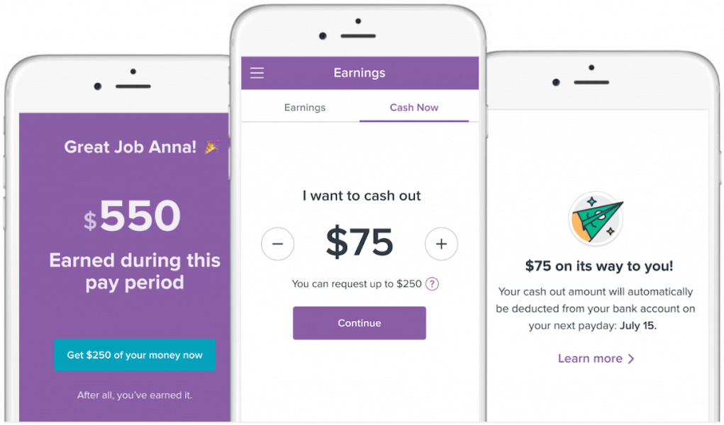 Image of mobile device with Clover cash out app
