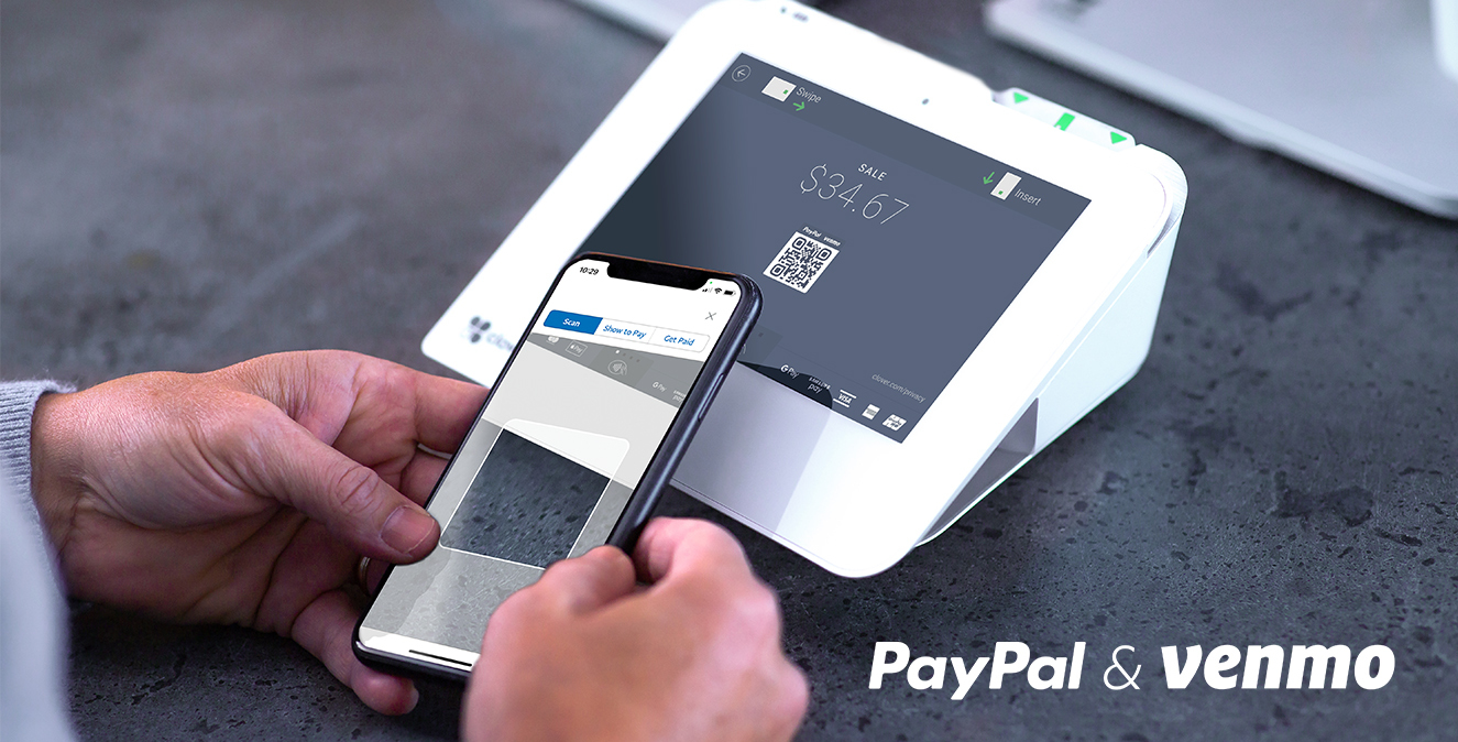 PayPal payment with Clover Mini