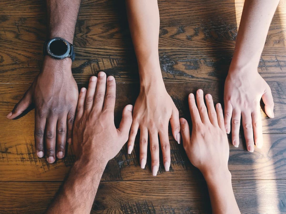 Image of hands representing teamwork