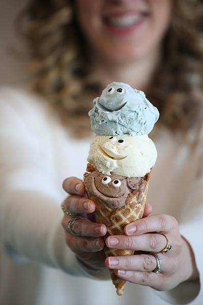 Three fun scoops — Tin Pot Creamery